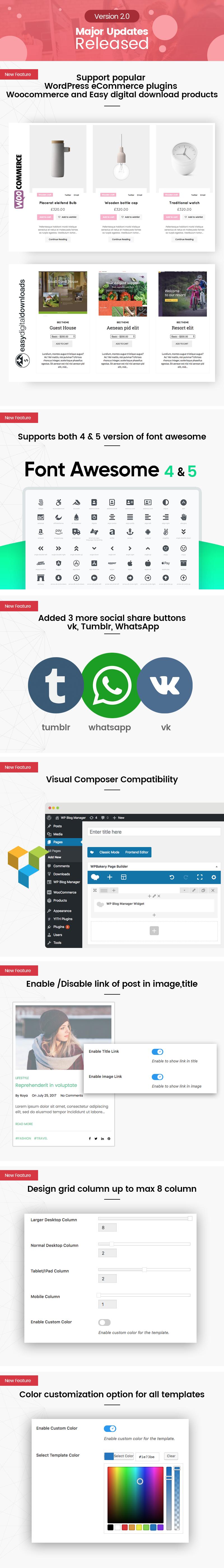 WP Blog Manager - Plugin to Manage / Design WordPress Blog - 1