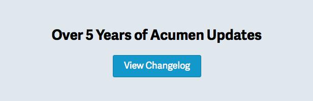 Over 5 Years of Acumen Updates — View Changelog