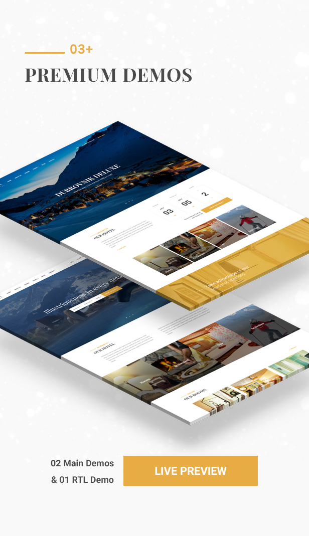 Hotel WordPress theme - Premium demos