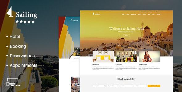 Hotel WordPress theme - Sailing