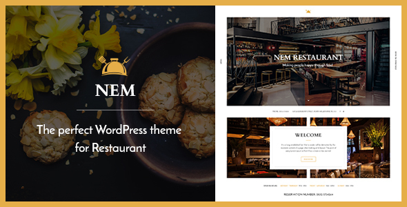 Restaurant WordPress theme - NEM