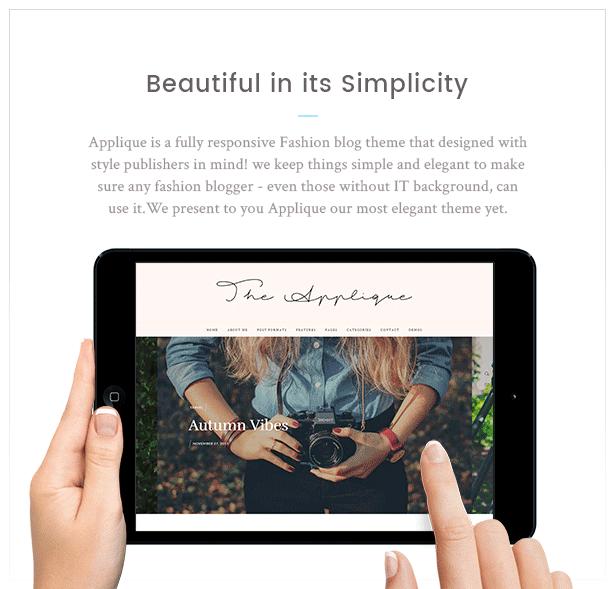Fashion Blog Theme - Applique - 7