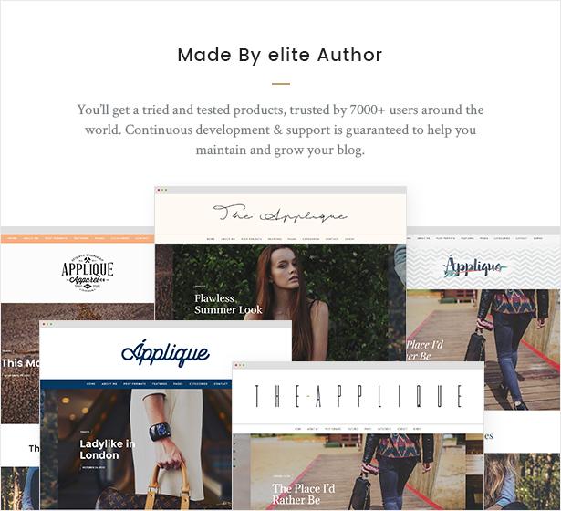 Fashion Blog Theme - Applique - 9