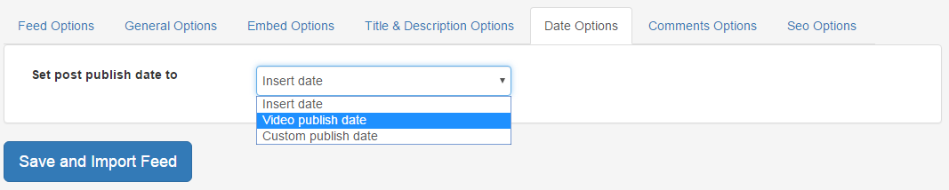 Date Options