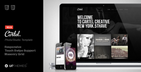 Cartel HTML5 Responsive Studio Template