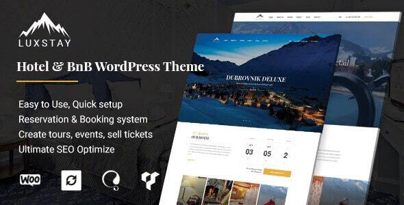 Hotel & BnB WordPress Theme | LuxStay