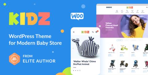 KIDZ - Baby Shop & Kids Store WordPress WooCommerce Theme