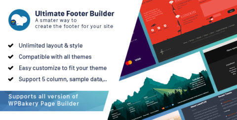 Ultimate Footer Builder - Addon WPBakery Page Builder (formerly Visual Composer)