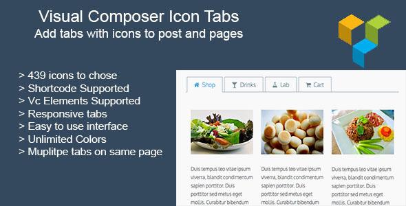 Visual Composer Icon Tabs
