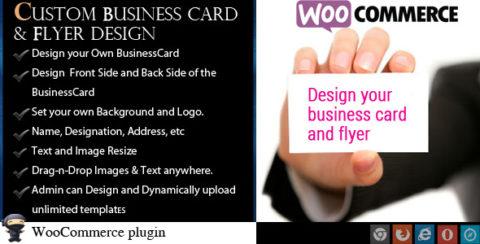 WooCommerce Business Card & Flyer Design