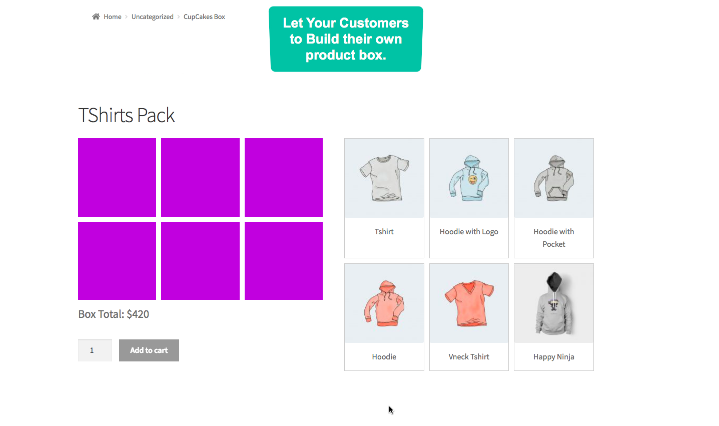 WooCommerce Mix & Match - Custom Product Boxes Bundles - 1