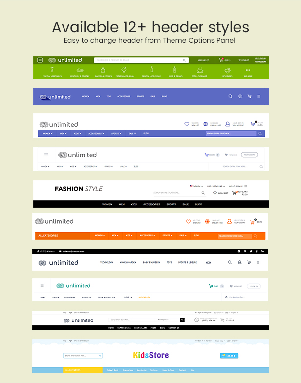 Infinit - Magento 2 & 1.9 Header Styles