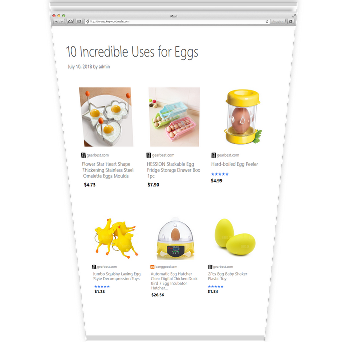Affiliate Egg - Niche Affiliate Marketing WordPress Plugin - 2