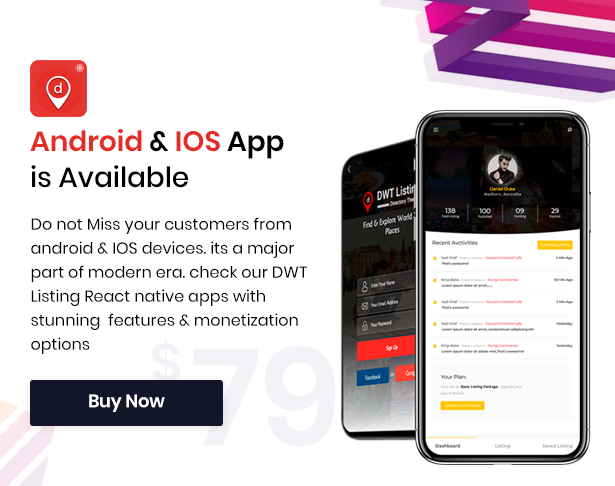 dwt listing native apps available