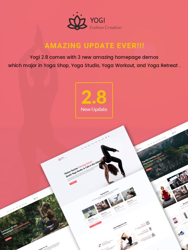 Yogi - Health Beauty & Yoga WordPress Theme - 1