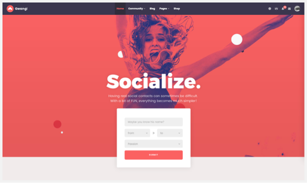 Gwangi - PRO Multi-Purpose Membership, Social Network & BuddyPress Community Theme - 8