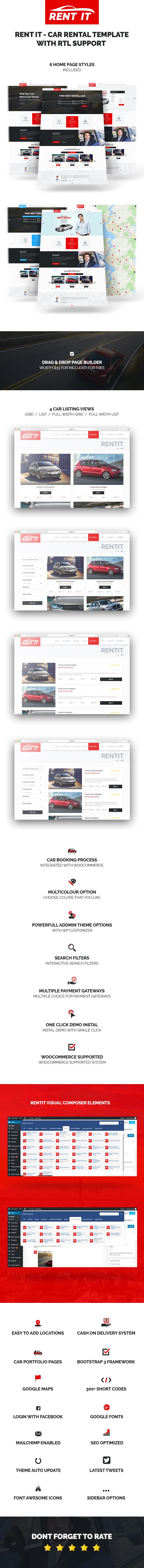 Rentit - Multipurpose Vehicle Car Rental WordPress Theme - 3