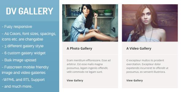 DV Gallery - Responsive Wordpress Gallery Plugin