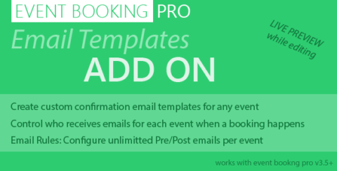 Event Booking Pro: Email Templates Addon