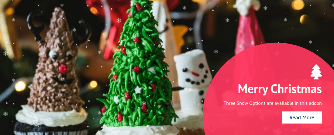 merry Christmas Image hover effects