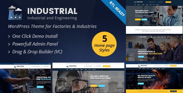 Industrial - Industry and Engineering WordPress Theme