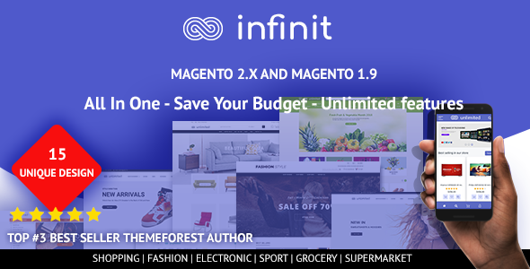 Infinit - Multipurpose Responsive Magento 2 and 1 Theme