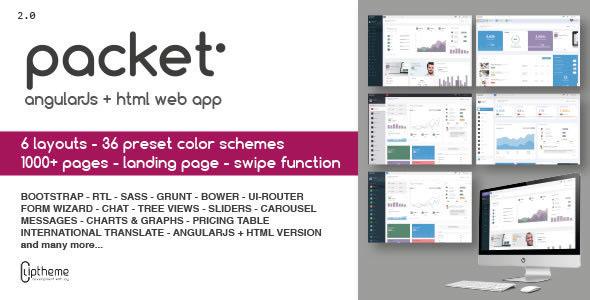 Packet - AngularJS And HTML Web App