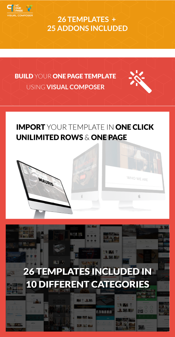 VC One Page Builder - Addons for Visual Composer - 1