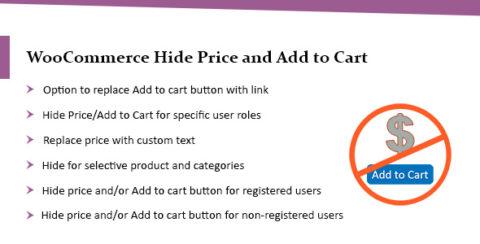 WooCommerce Hide Price & Add to Cart Button Plugin - Lite