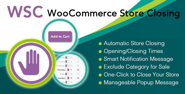 Woocommerce Store Closing