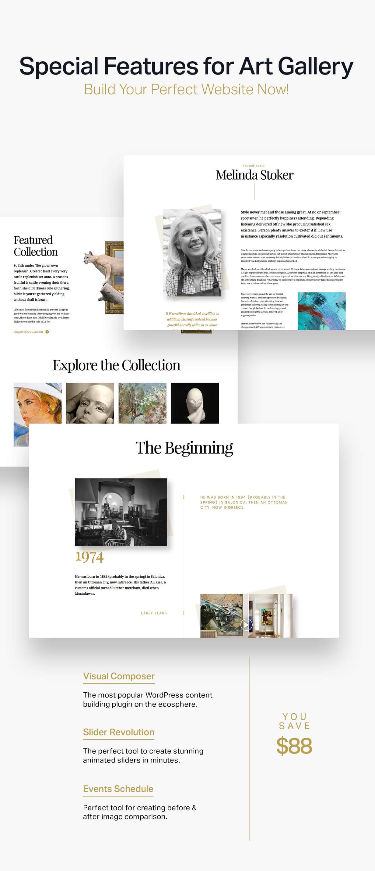Arte   Art Gallery WordPress Theme - 5