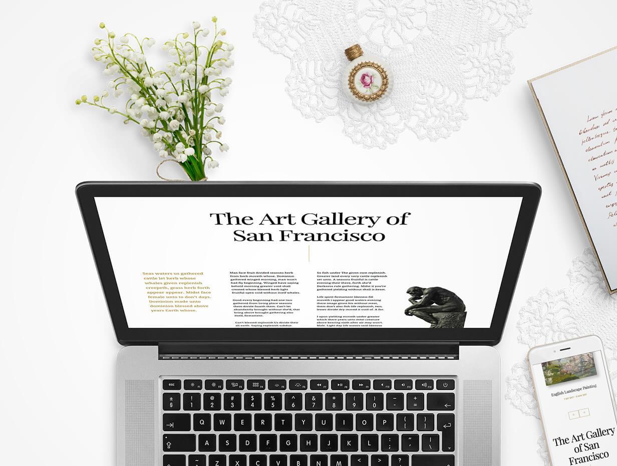 Arte   Art Gallery WordPress Theme - 10