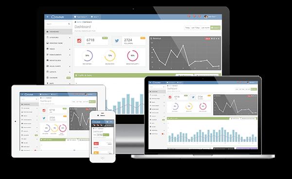 Cloud Admin - Bootstrap Responsive Dashboard - 2
