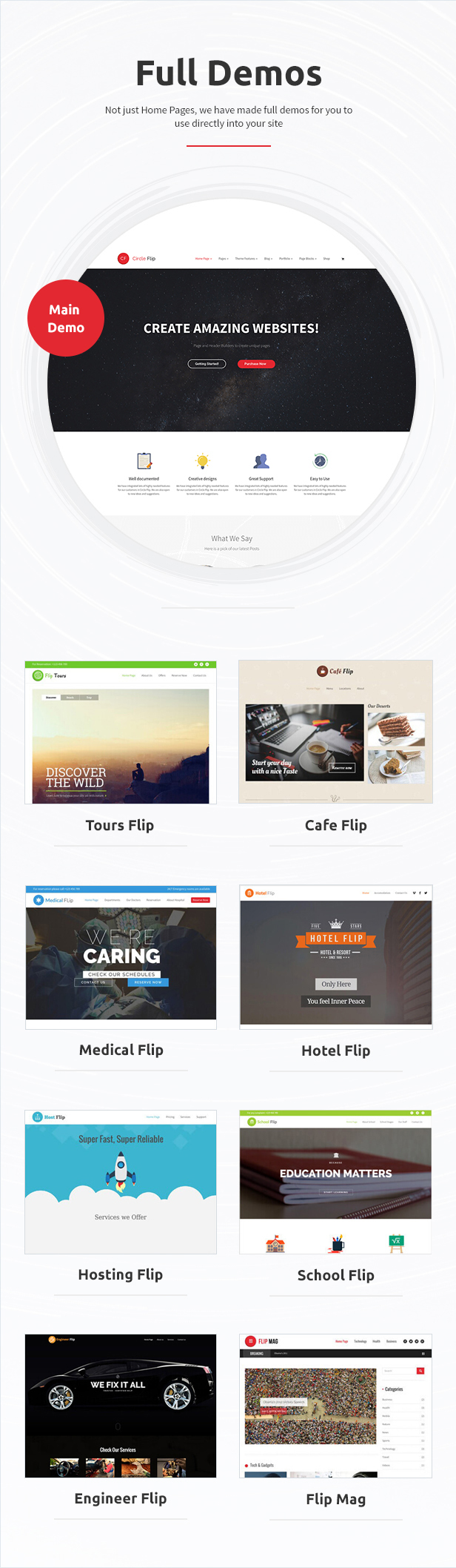 Circle Flip - Responsive WordPress Multipurpose Theme - 2