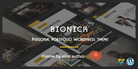 Bionick   Personal Portfolio WordPress Theme