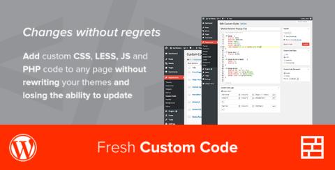 Fresh Custom Code - CSS/JS/PHP - WordPress Plugin