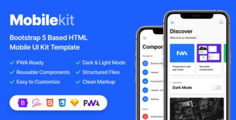 Mobilekit - Bootstrap 5 Based HTML Template