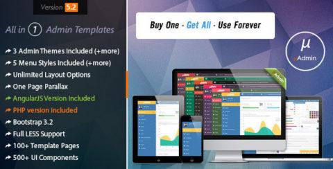 Multi Style AngularJS Responsive Admin Template | mAdmin