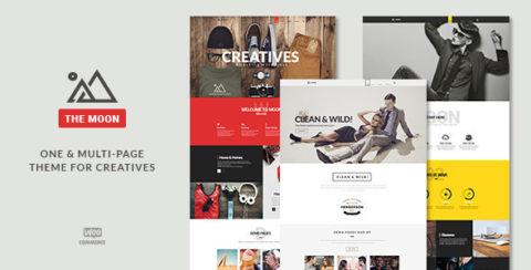 The Moon - Creative One Page Multi-Purpose Theme