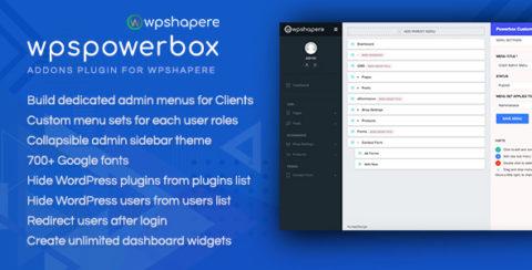 WPSPowerbox - Addon for WPShapere WordPress Admin Theme