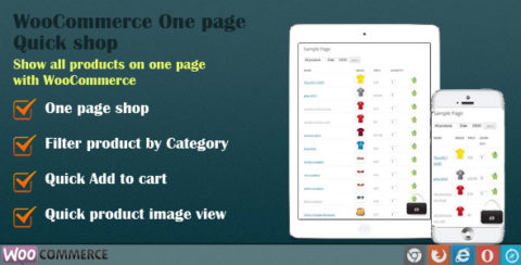 WooCommerce Quick Order One Page Shop