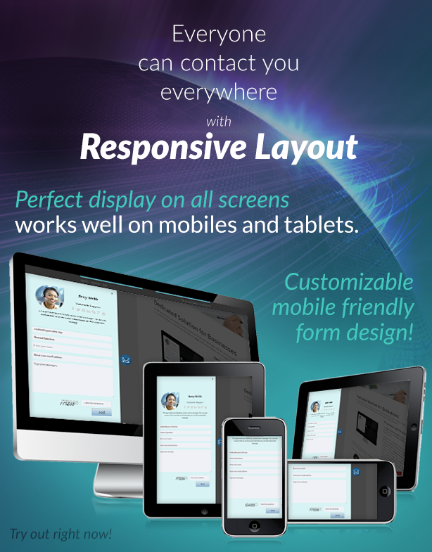 Floating Contact Form Responsive