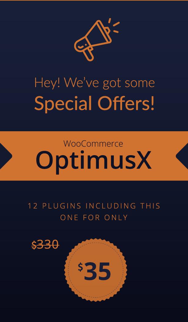 WooCommerce OptimusX Offer