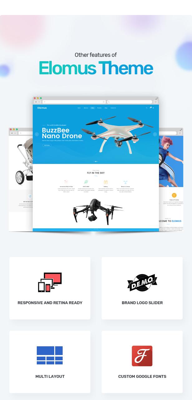 electronics single product shopify