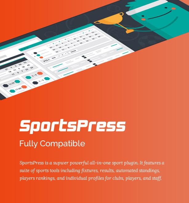 Big Slam Sport Clubs - Soccer WordPress - 3