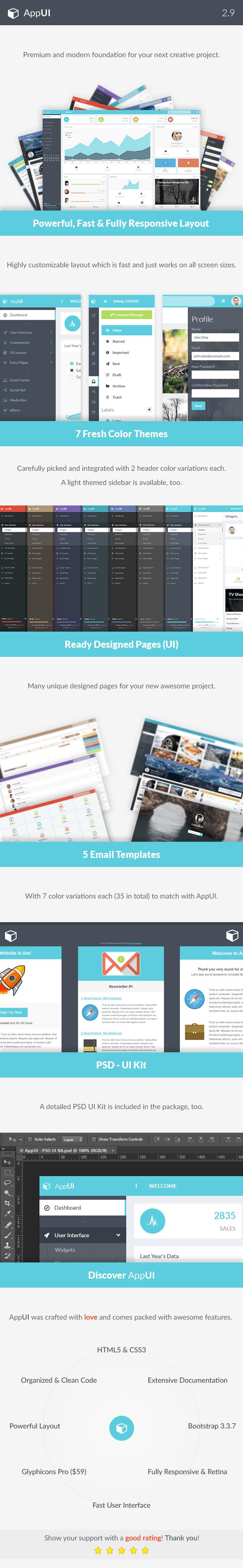 AppUI - Web App Bootstrap Admin Template - 8