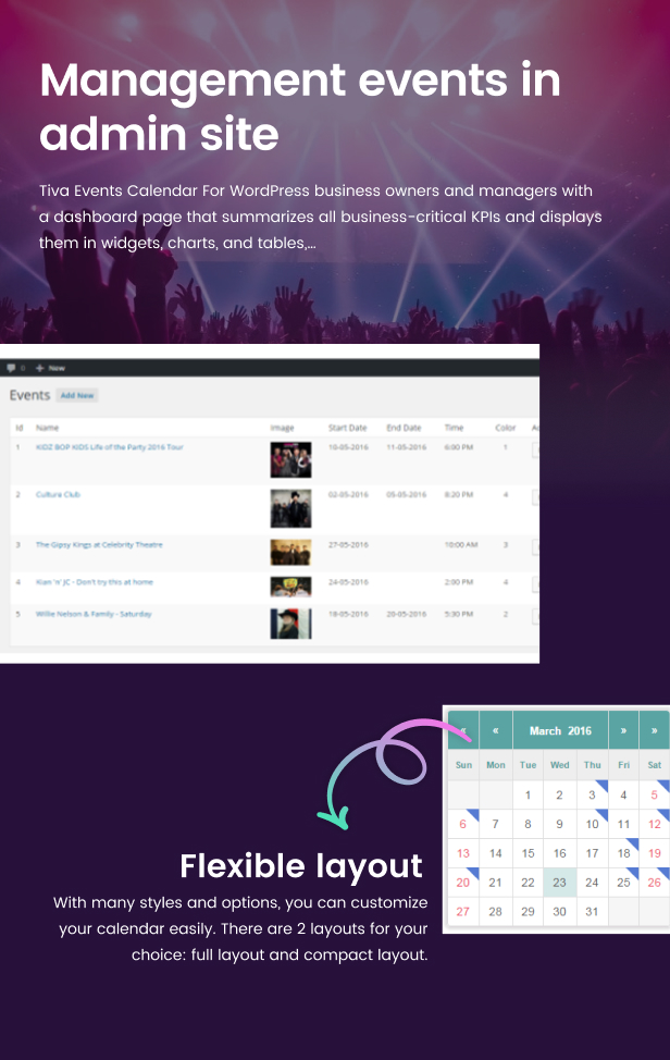 Tiva Events Calendar For WordPress - 10
