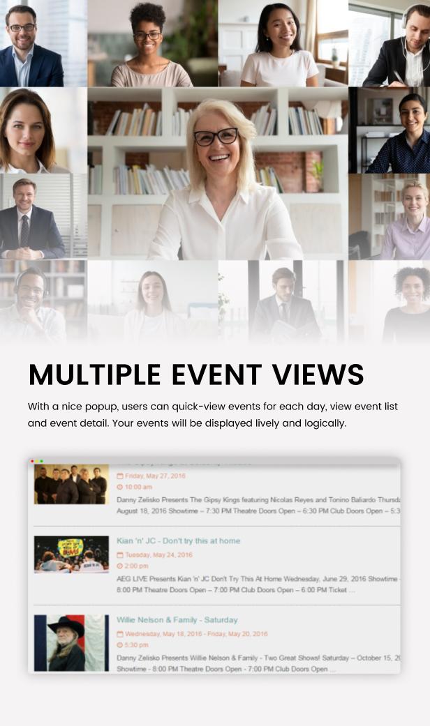 Tiva Events Calendar For WordPress - 11