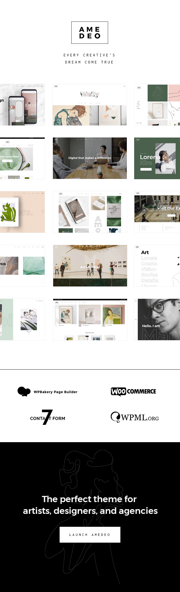 Amedeo - Multi-concept Artist and Creative Agency Theme - 1