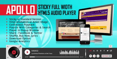Apollo - Sticky Full Width HTML5 Audio Player - WordPress Plugin